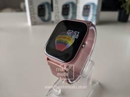 Smartwatch Colmi P8 Com Pulseira de Metal Rosa