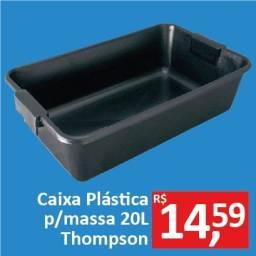 Caixa Plástica p/massa 20Lt - Thompson - Promoção R$ 14,59