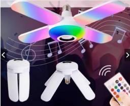 Lâmpada Musical RGB Bluetooth + Controle Remoto > Frete Grátis!