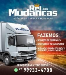 Título do anúncio: Mudanças e Fretes em caminhão baú local e todo o Brasil