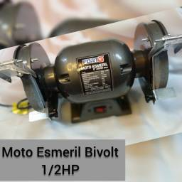Título do anúncio: Moto esmeril bivolt manual 1/2HP