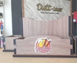 Título do anúncio: Porta guardanapo em mdf madeirado