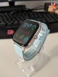 Smartwatch P8 Pro 20mm Compatível com Android e IOS Azul