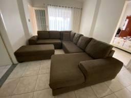 sofa grande marrom