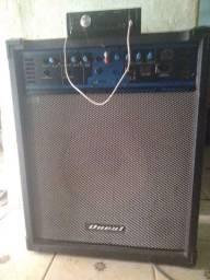 Título do anúncio: Caixa de som amplificada com um toca cd de carro. Top de mais