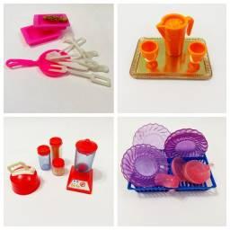 4 Kits de Utensílios de Cozinha - Escala 1/6 - Barbie
