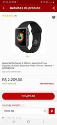 Apple watch Série 3, 38mm, alumínio cinza especial
