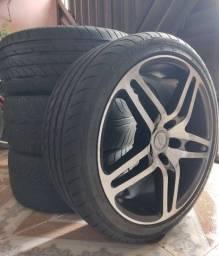 Aro 18 marca Mangels com pneu