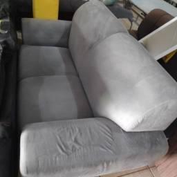 Título do anúncio: sofa cinza de 02 lugares usado