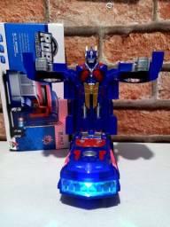 Caminhão Transformers Optimus Prime! (Pilha) (Vira Robô) (Som Luz).