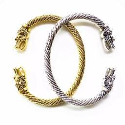 Pulseira dragão vitange Bracelete nórdico vikings