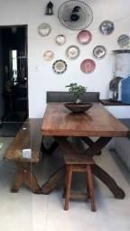 Título do anúncio: Mesa para área gourmet em madeira maciça angelim