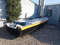 Título do anúncio: Barco de alumínio karib 4.20mtrs.1.40 mtrs de boca