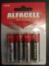 Pilhas AA 1.5V Alfacell C/4 Pilhas