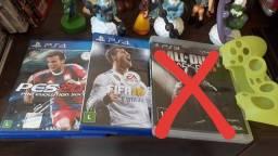 Jogis de PS4 + brinde case de joystick de ps4
