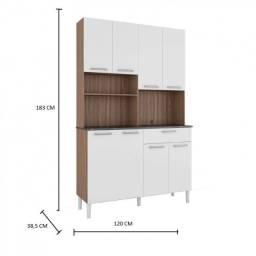 Cozinha Compacta  Gold 8 Portas e 2 Nichos - Sevilha/Branco