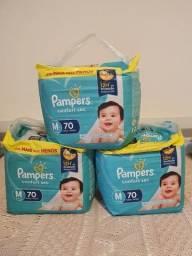 Título do anúncio: Fralda Pampers confort sec tamanho M com 70 unidades