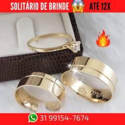 Título do anúncio: Promoção Alianças de Moeda +Brinde