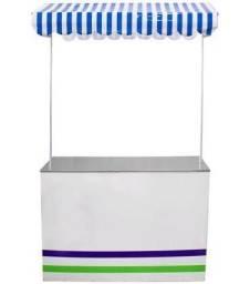 Barraca dupla lisa - Ideal para crepe, pipoqueira elétrica, hot dog