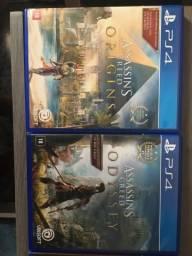 Assassins creed Odyssey e Origins Ps4. Somente Venda