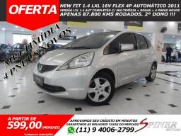 Honda Fit 1.4 LXL 16v Flex 4p Automático Completo Só 87.800 Kms 2º Dono - 2011