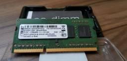 Memória RAM (Notebook) Sdram SoDIMM 260pin DDR3 - 4GB - 1600 MHz