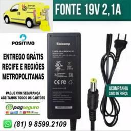 Carregador Notebook Positivo/Acer/Governo-Entrego Grátis-Leia (Novo)