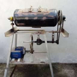 Tambor para polimento e rebarbamento + 20 kg de chip de polimento