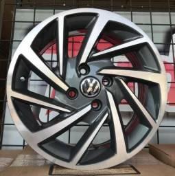 Jogo de rodas novas modelo Novo Polo 15 17 e 18, valor de cada aro na descrição
