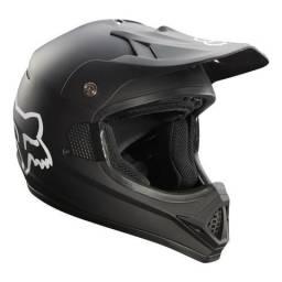 Capacete Motocross Fox Vf1 Race Preto Fosco Tam 60 + Óculos Dragon