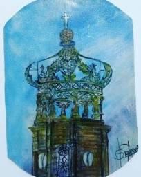 Tela: Santuário - Pintura Óleo
