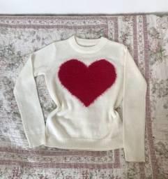 Suéter de lã feminino