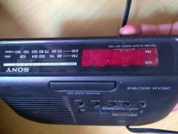 Radio relógio sony