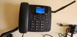 Telefone Celular Fixo Rural Intelbras 2 Chip Internet Antena