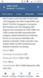 Projetor unic46 troco por celular