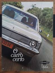 Folheto promocional original GM - Opala 1970