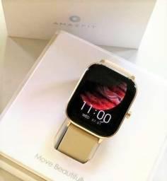 Queima Total!! Relógio Inteligente Amazfit GTS Dourado Smartwatch GPS Original Global