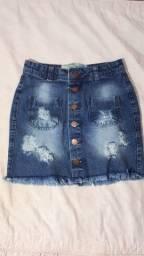 Saia jeans, número 36