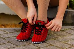 Tênis de dança da Taygra vermelho