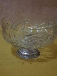Fruteira de cristal antiga