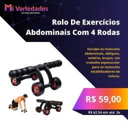 Título do anúncio: Rolo de exercícios abdominais com 4 rodas