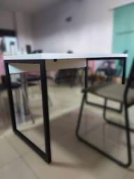 Mesa Para Escritório Soft Industrial 120 cm Diversas Cores - Lyam Decor
