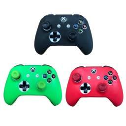 Capinha Controle Xbox One Fat S X + Grips Analógico