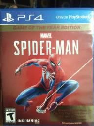 Título do anúncio: TROCO JOGO DE PS4 SPIDER MAN!! TROCO