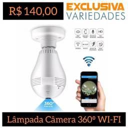Lâmpada Câmera 360° LED Wi-Fi VR Cam