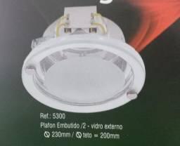 Título do anúncio: Plafon de embutir redondo para 2 lampadas