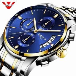 Nibosi relógio masculino de luxo (frete grátis)