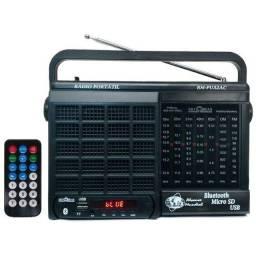 Rádio 7 Faixas, Bluetooth, Cartão micro SD e USB