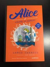 Livro Alice através do espelho - Lewis Carroll