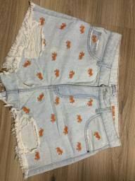shorts jeans de carangueijo da luigi bertolli